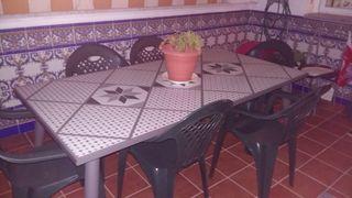 Mesa Jardin terraza con 6 sillas