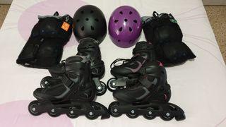Pack patines adulto NUEVOS