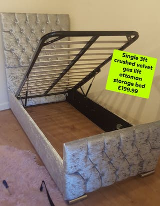 Single 3ft gas lift ottoman storage bed