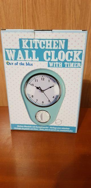 Reloj con temporizador de cocina