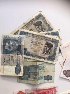 10 billetes de 500 pesetas