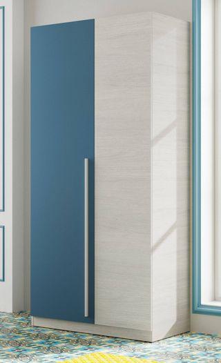 Armario infantil o juvenil 2 puertas azul y blanco