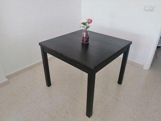 Mesa de comedor bjursta 90 extensible