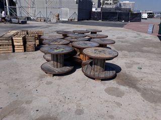 MESAS CENTRO INDUSTRIAL MADERA BOBINAS CABLE