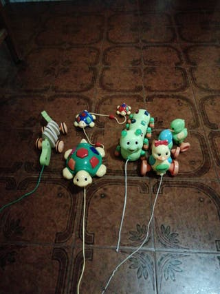 4 juguetes para arrastrar