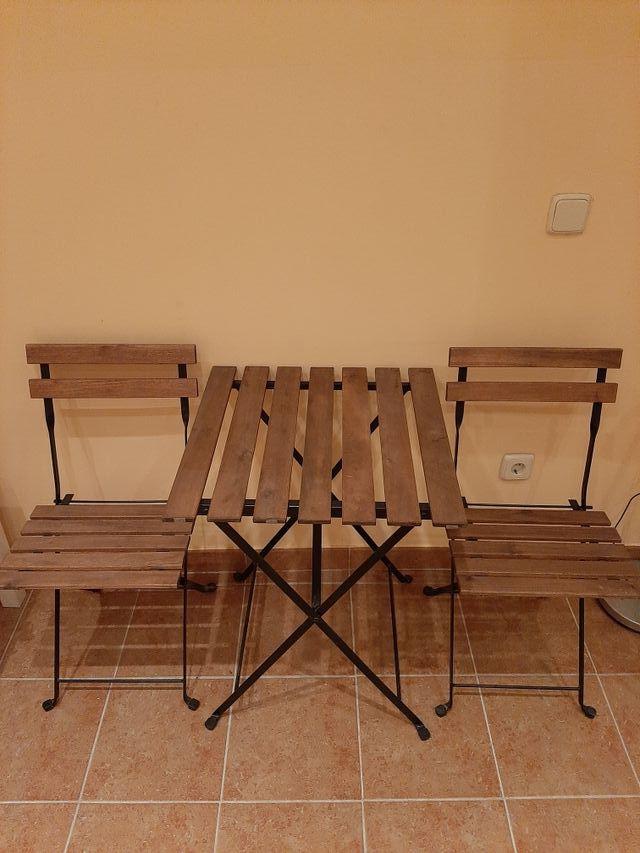 Mesa Terraza Y 2 Sillas Ikea De Segunda Mano Por 28 En