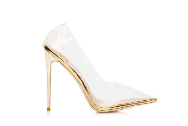 Jessica Rich Clear Fancy Stiletto Heels