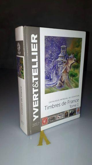 un catalogo de sellos de francia Yvert 2017