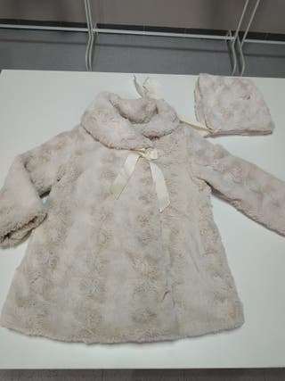 abrigo pelo valentina bebes talla 3/4 años