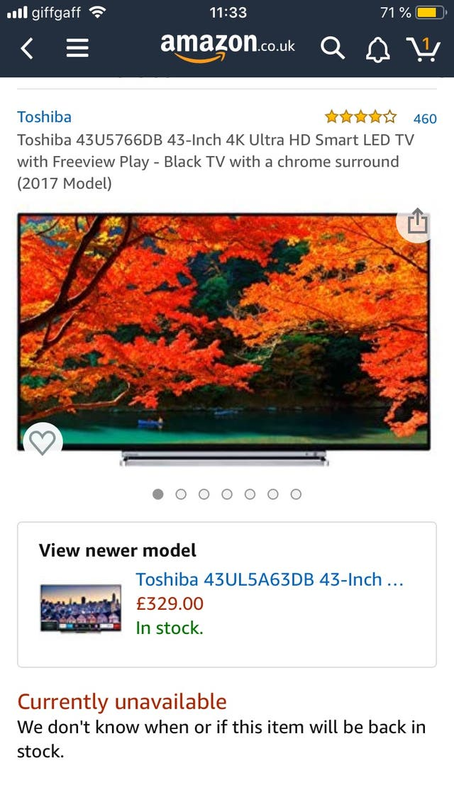 Toshiba 43inch 4K ultraHD smart LED tv