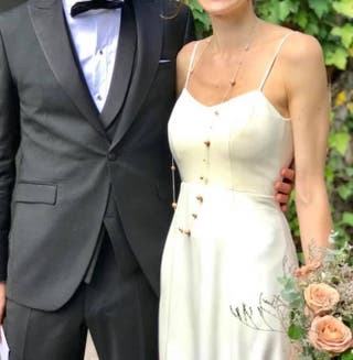 Vestido de novia seda avorio Otaduy Talla 36