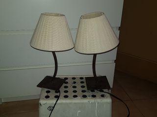 juego de lamparas de mesilla