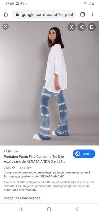 pantalones estampado teñido