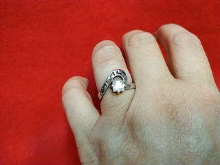 anillo plata solitario circonita