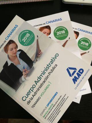 libros oposiciones administrativo de Canarias