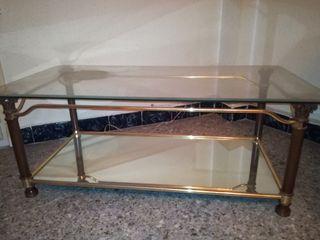 Mesa cristal comedor.