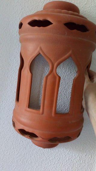 Farol aplique de pared de ceramica
