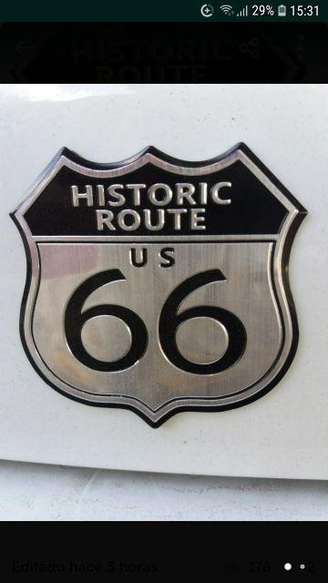 adhesiu metal·lic route 66 indian