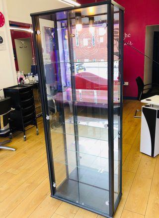 Glass door cabinet (Black )