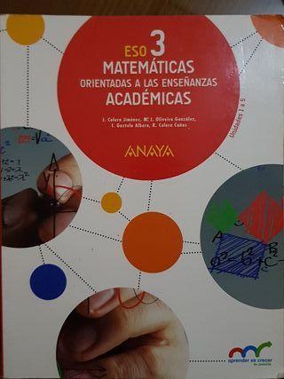 Matemáticas 3° ESO Anaya