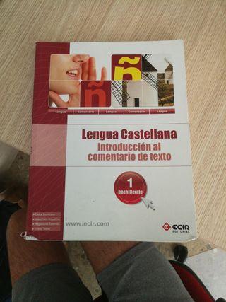 libro castellano editorial ecir primero bachiller