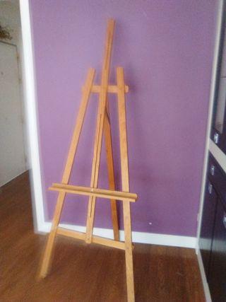 caballete de madera para artes plásticas