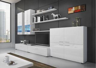 Mueble de salón Beta Blanco tv