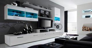 Mueble de salón Alfa Blanco tv