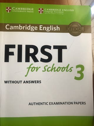 Libro First for School nivel B2