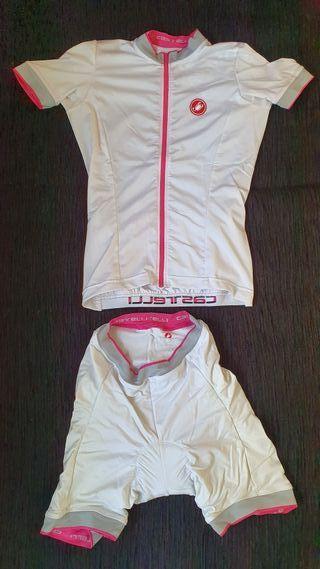 Conjunto maillot + culotte Castelli Mujer