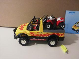 Playmobil pick-up con quad de carreras