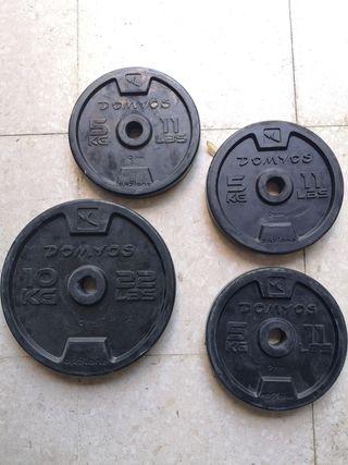Discos para pesas y mancuernas