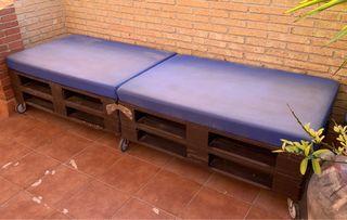 Sofá de palets para terraza