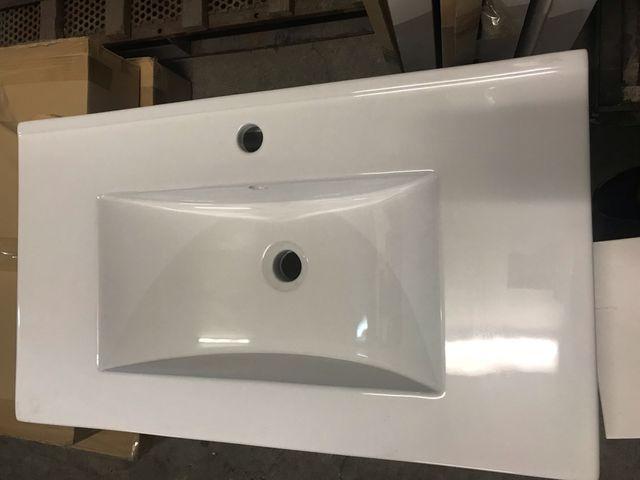 Mueble baño 100 cm , encimera y espejo