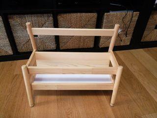 expositor libros ikea, madera, Flisat
