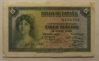 Cinco pesetas 1935