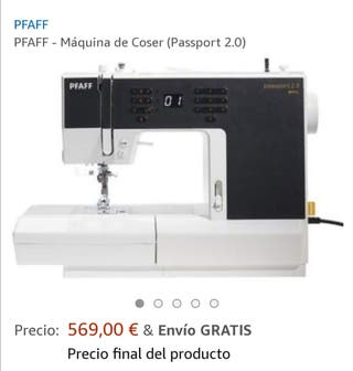 máquina de coser pfaff passport 2.0 nueva