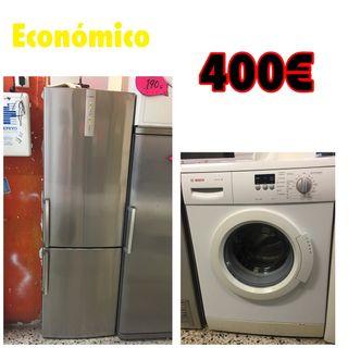 Pack económico frigorífico + lavadora Bosch