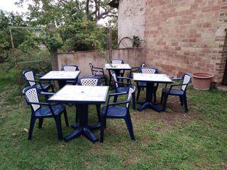 Juego sillas y mesas de jardín