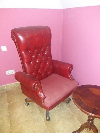 silla o sillón de oficina y despacho en piel