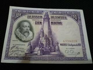 Billete 100 pts 1928 EBC