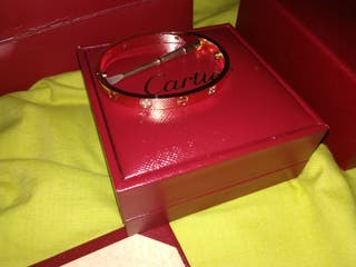 Love Cartier 4 Diamonds rose gold talla 16