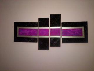 cuadro morado-negro-plata