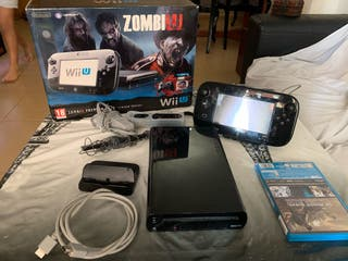 Wii U negra + 1 juego
