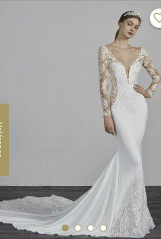 vestido de novia enelsa sirena (pronovias)
