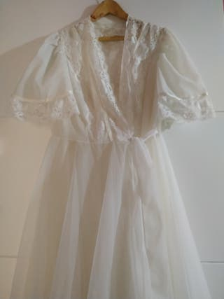 conjunto camisón blanco vintage