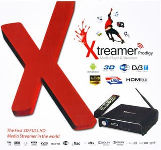 Reproductor XTREAMER PRODIGY BLACK TV 3D NUEVO.