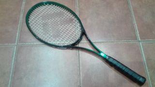 Raqueta de tenis TECNO y funda.