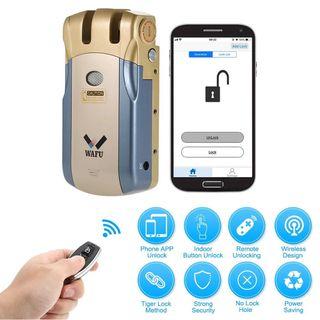 Cerradura electrónica (abre con el móvil o mando)