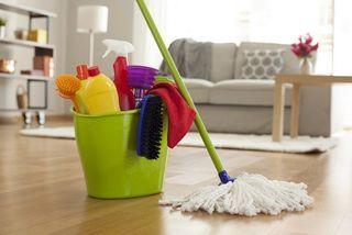 Servicio de limpieza en el hogar.